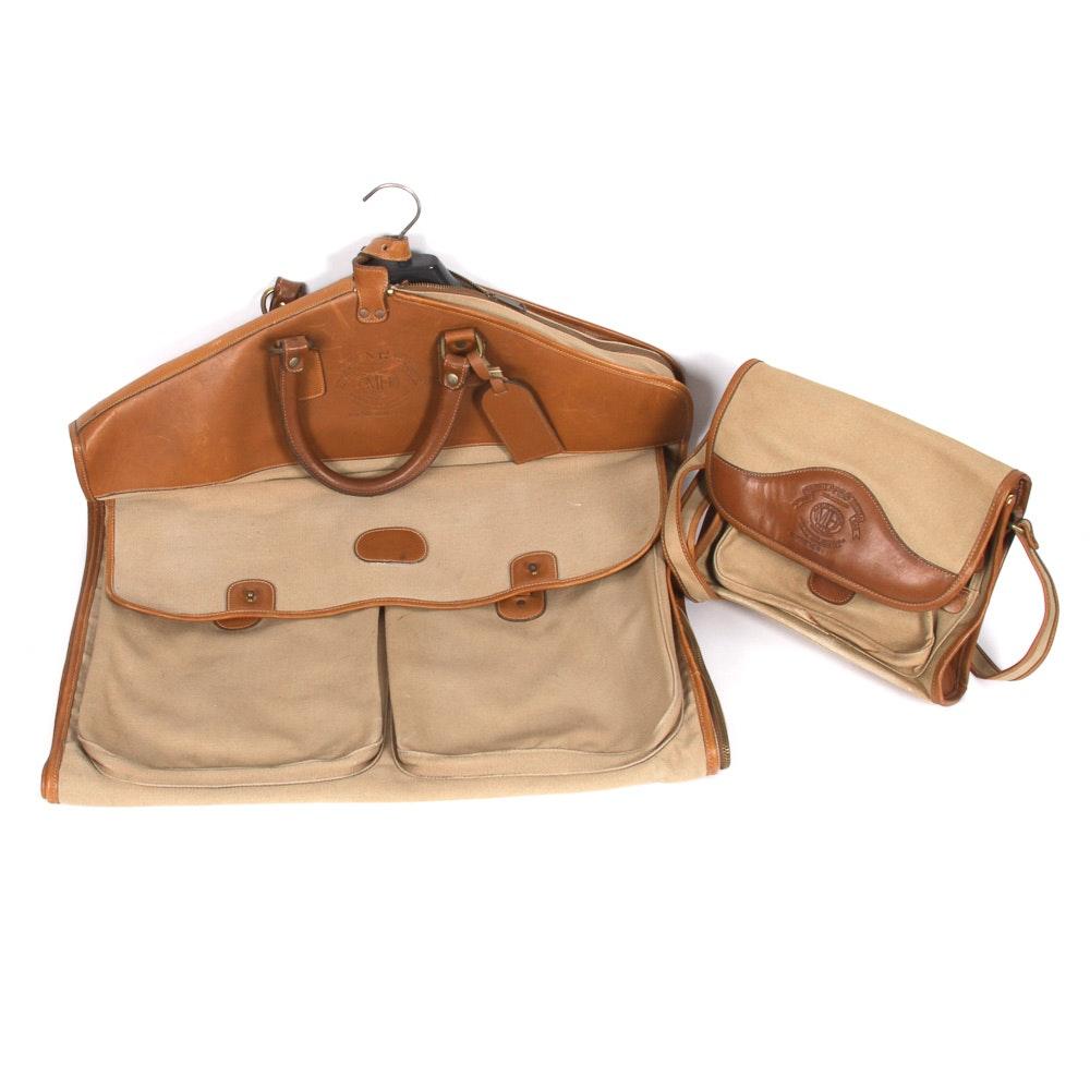 Vintage Ghurka Marley Hodgson Strongsuit and Catcher Travel Bags