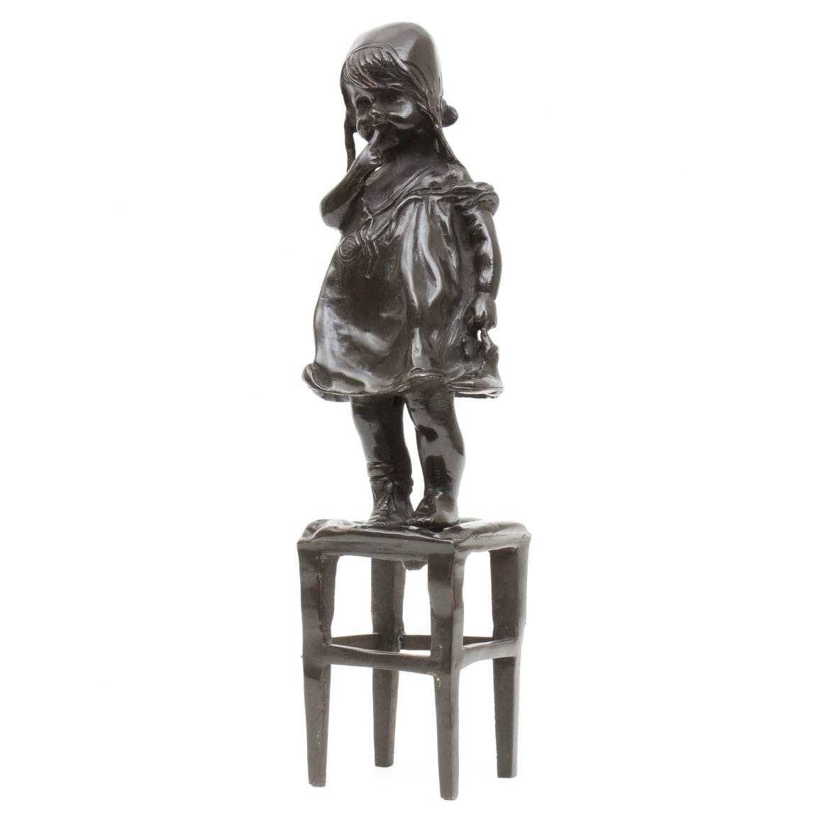 Bonded Bronze Statuette of Young Girl