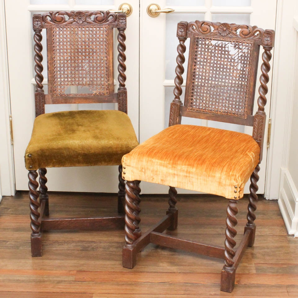 19th Century Victorian Hall Chairs