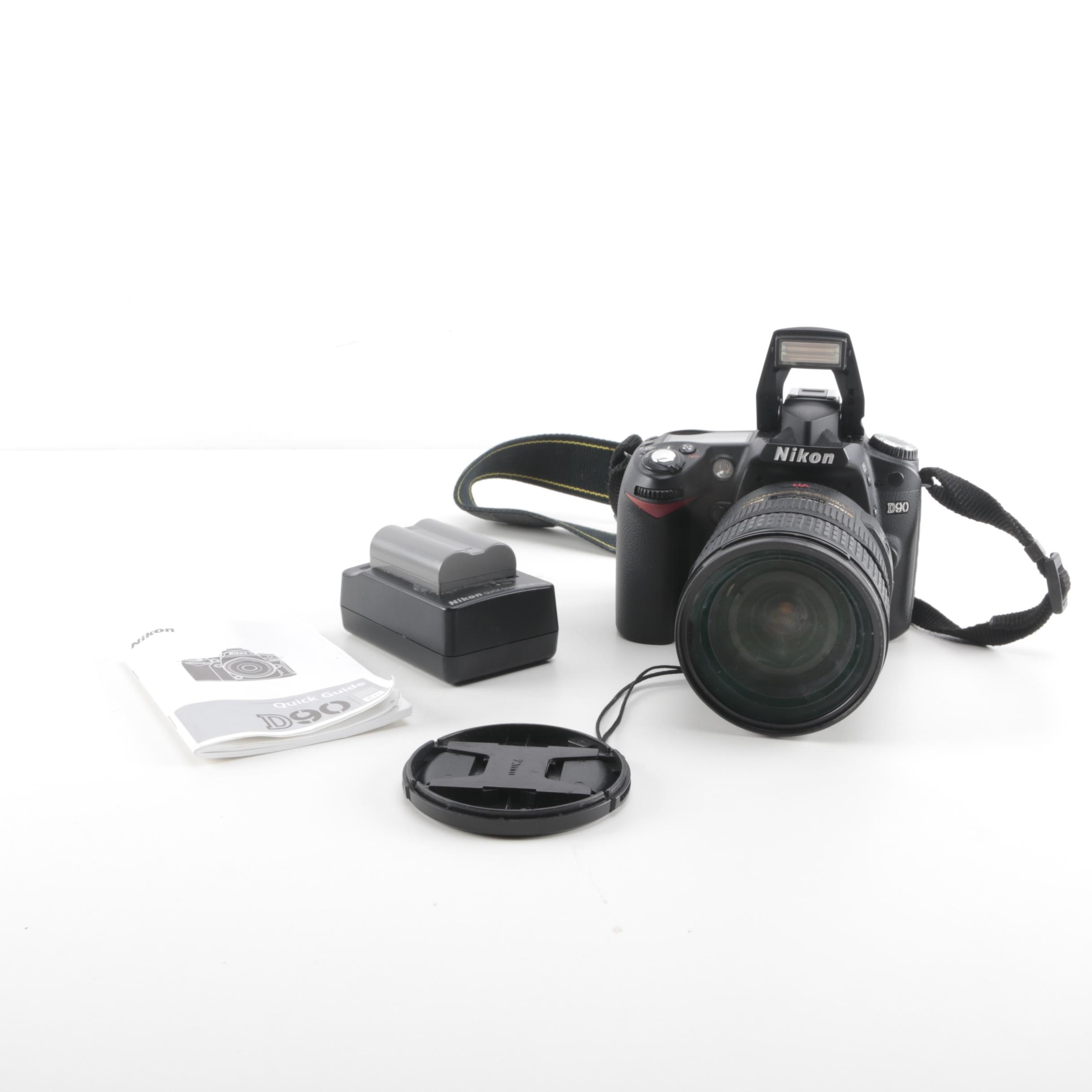Nikon DSLR Camera With Strap, Batteries, and Charger