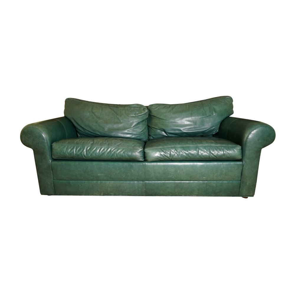 Green Leather Sleeper Sofa