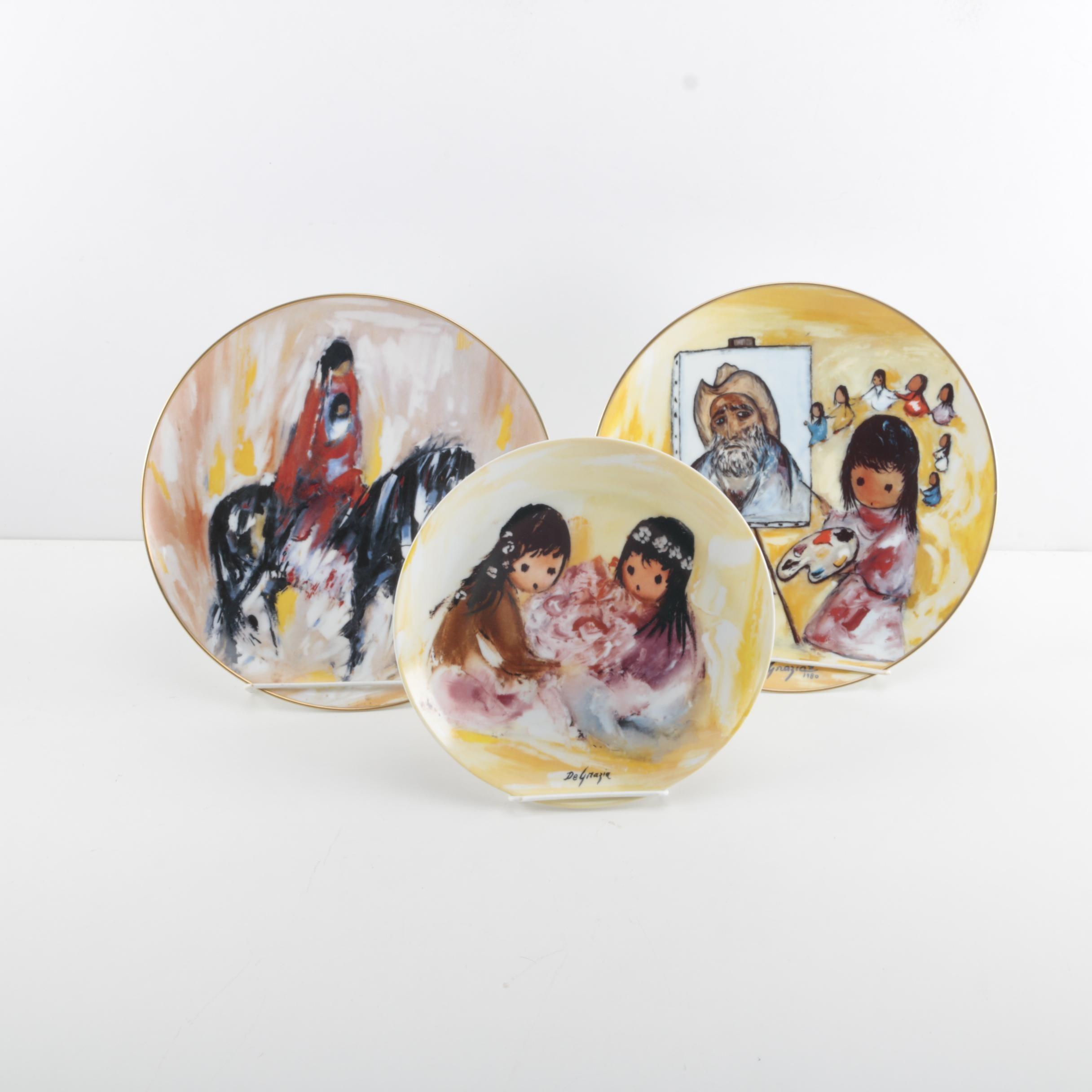 "DeGrazia Limited Edition ""Children of the Sun"" Porcelain Plates"