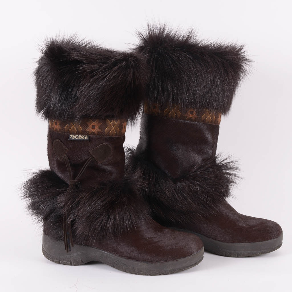 Tecnica Calf Hair Apres-Ski Boots, Size 7