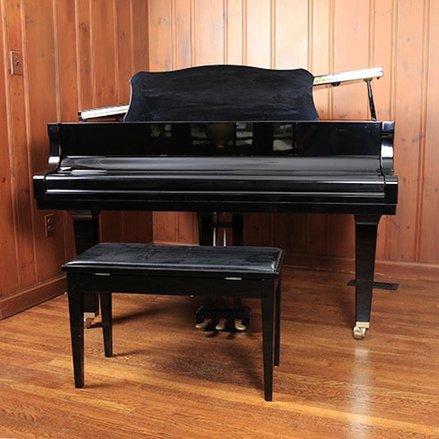 Yamaha ga1 baby grand piano and bench ebth for Yamaha black baby grand piano