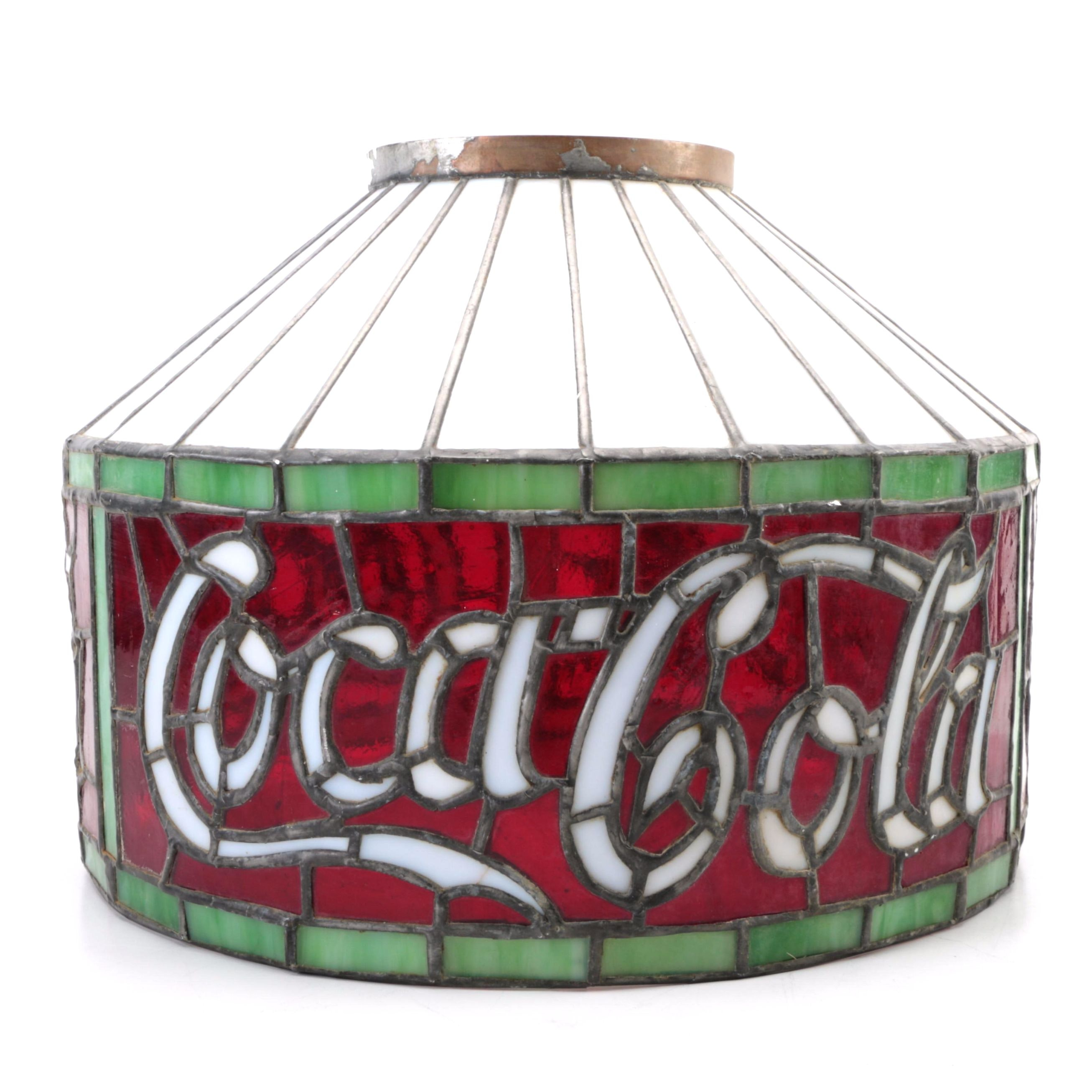 Tiffany Style Stained Glass Coca Cola Lamp Shade ...