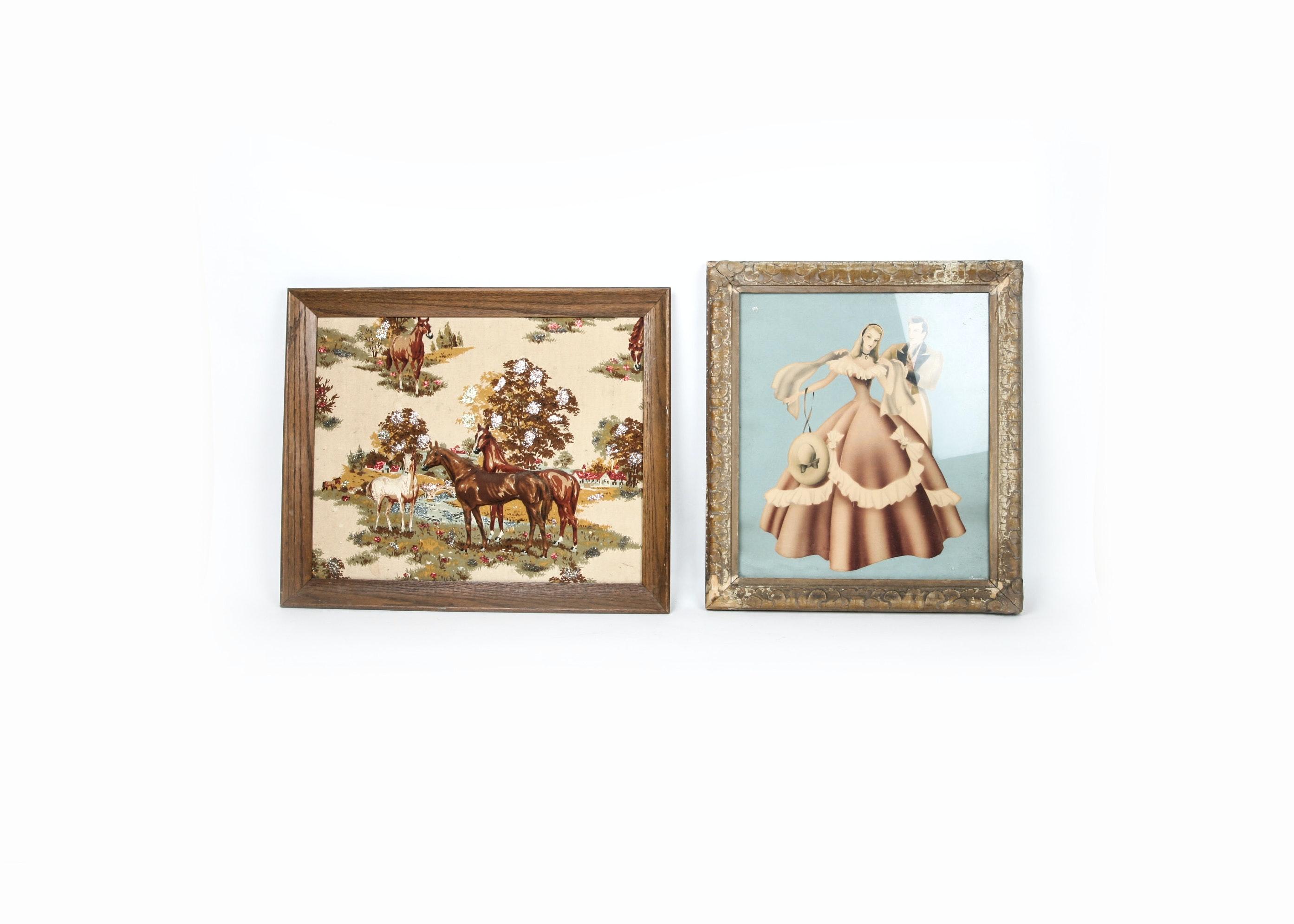 Two Vintage Decorative Art Pieces