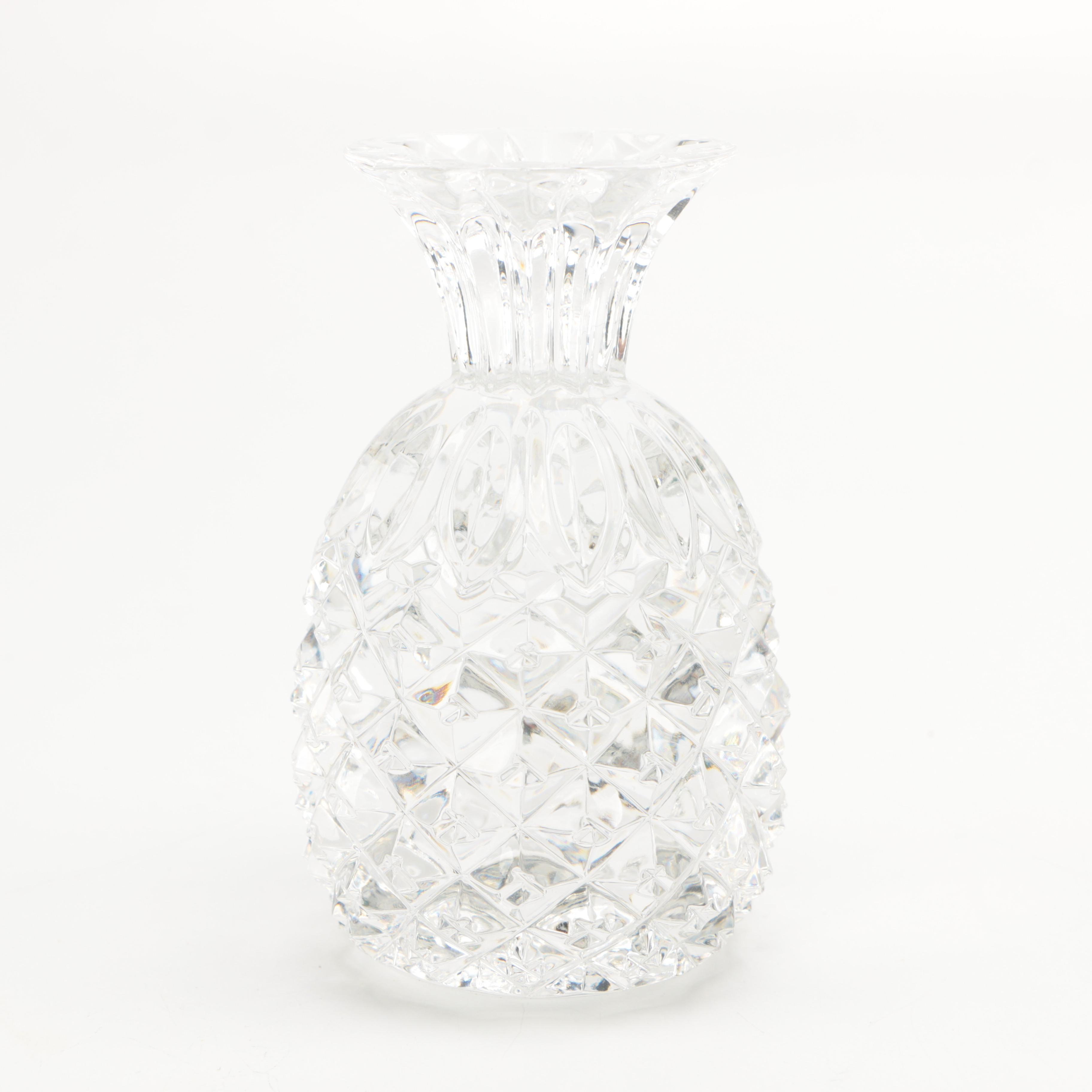 "Waterford Crystal ""Hospitality"" Pineapple Bud Vase"