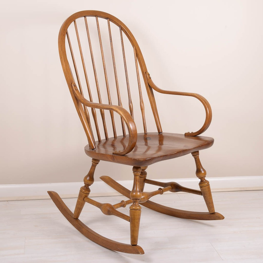Antique Pine Rocking Chair ... - Antique Pine Rocking Chair : EBTH