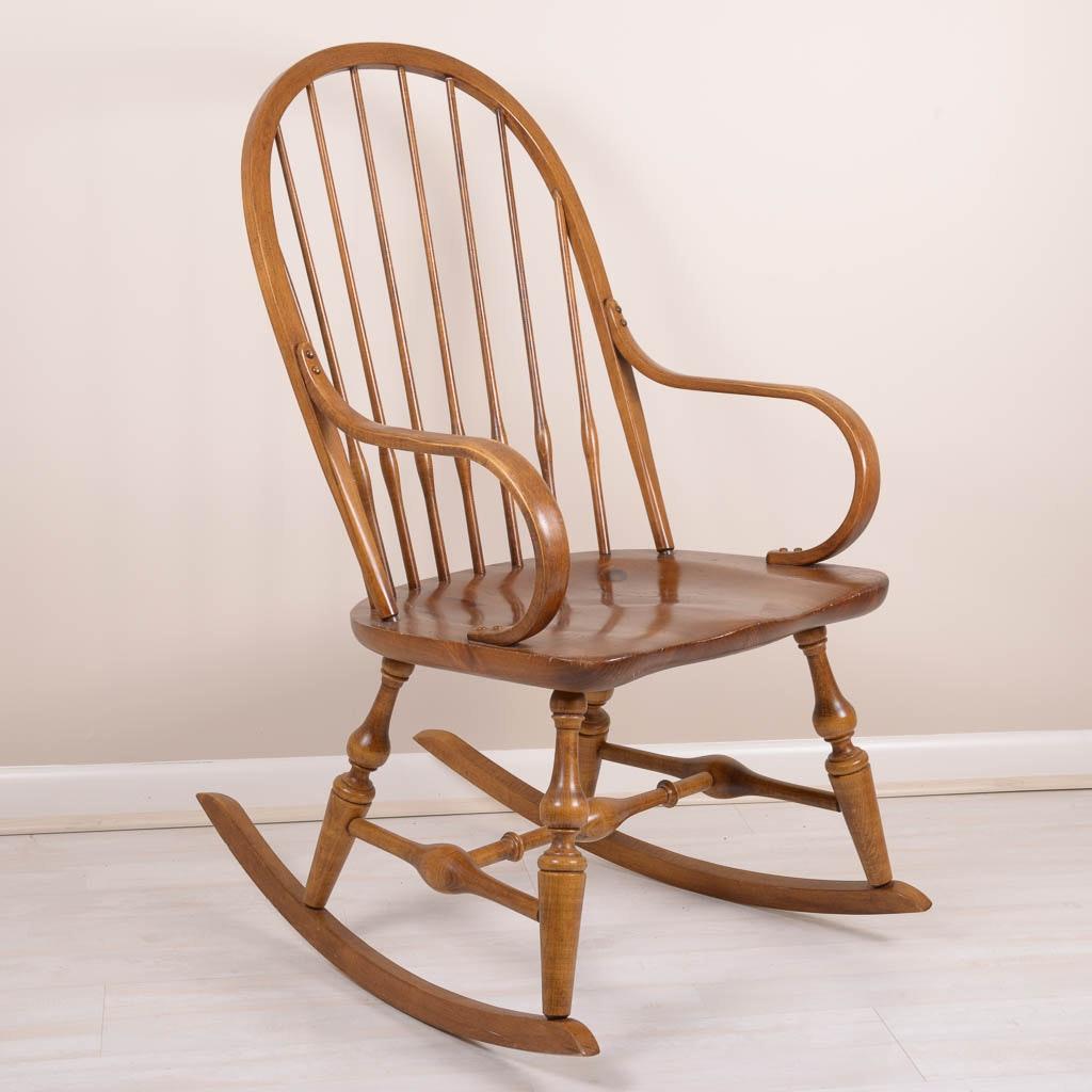 Delightful Antique Pine Rocking Chair ...