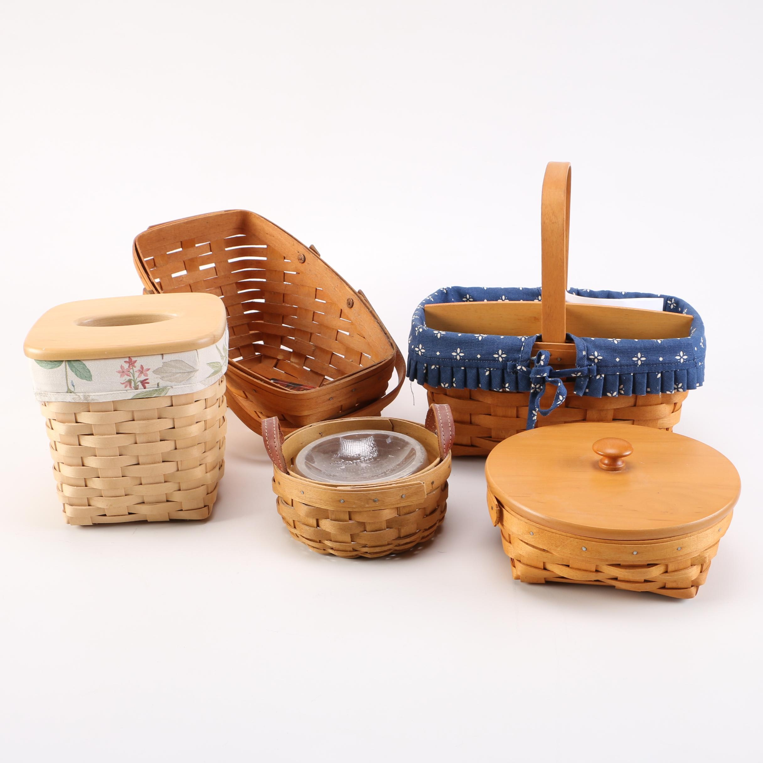 Selection of Wicker Longaberger Baskets