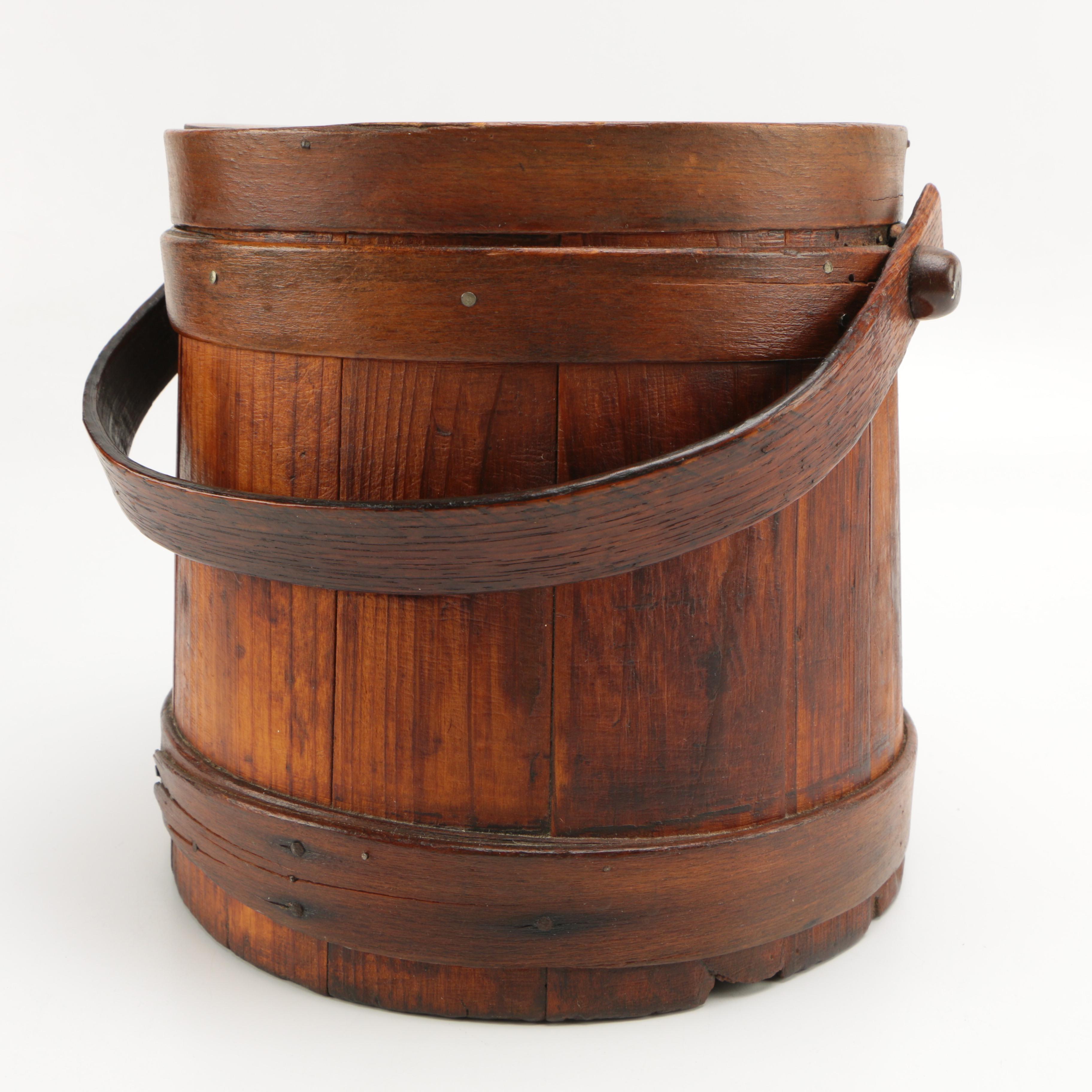 Vintage Wooden Sugar Bucket
