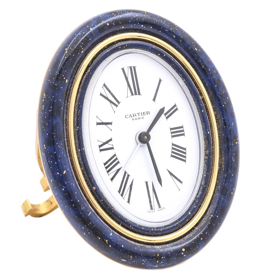 Cartier enameled brass alarm clock ebth cartier enameled brass alarm clock amipublicfo Images