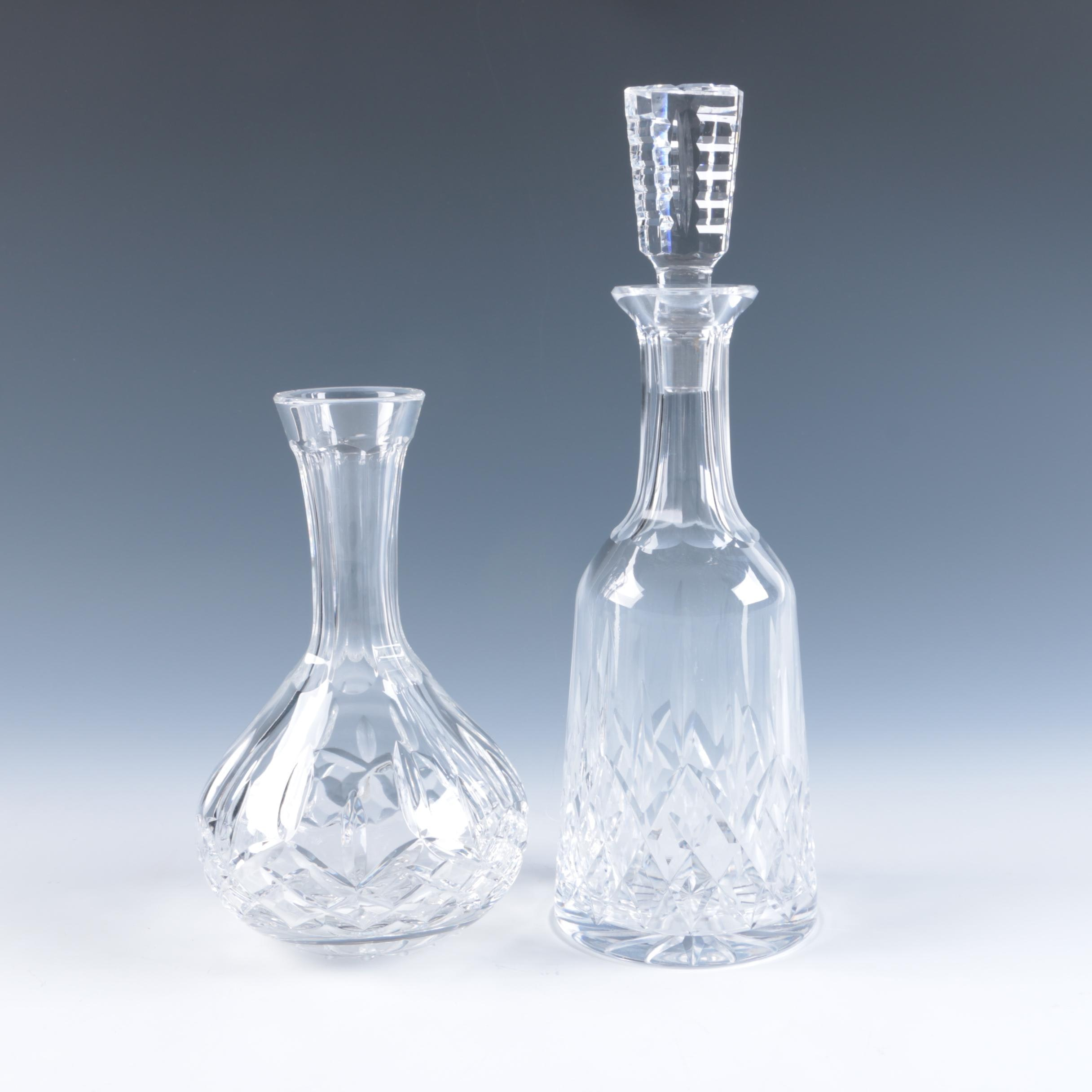 "Waterford ""Lismore"" Decanter and Carafe"