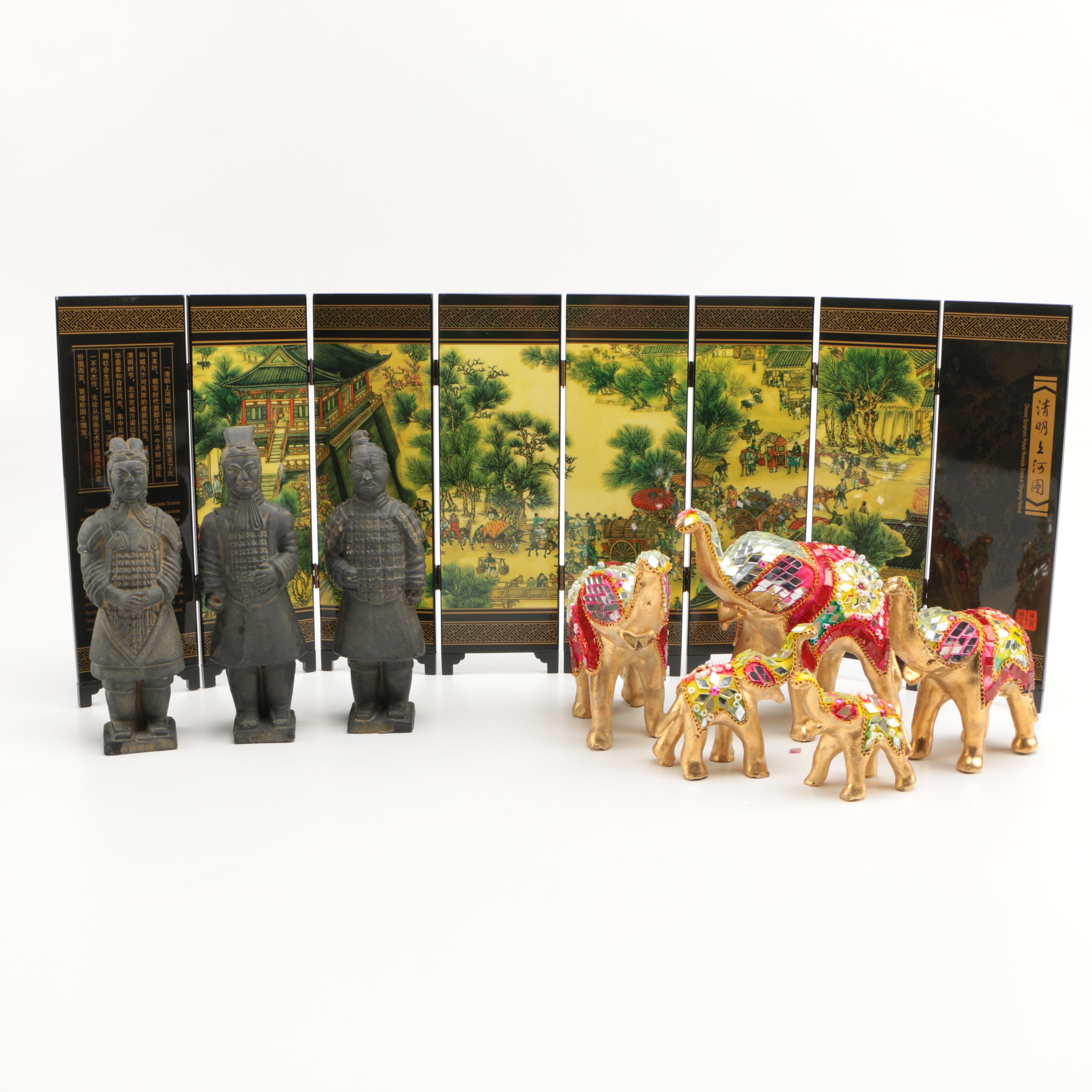Assorted Chinese Decor and Figurines
