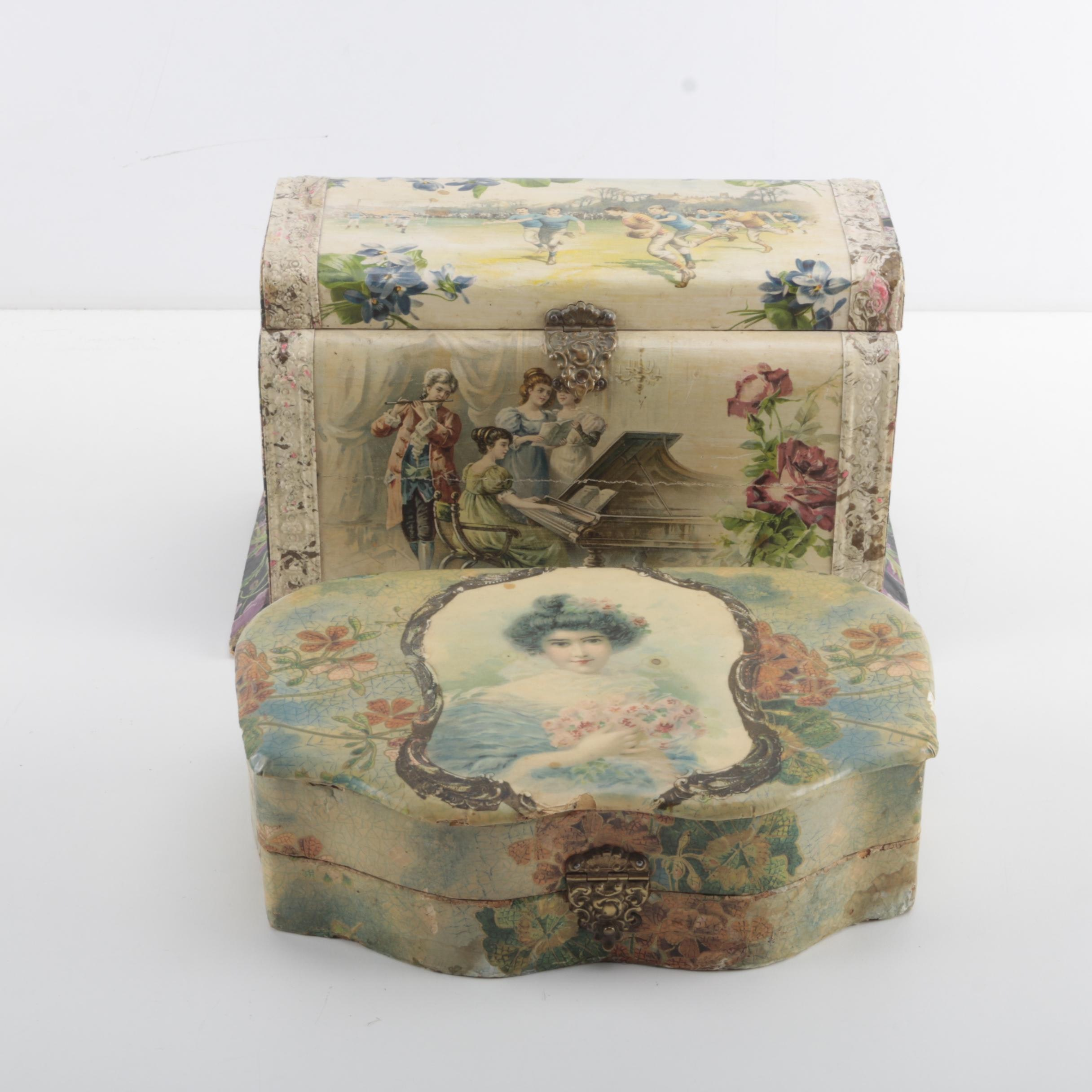 Victorian Style Celluloid Vanity Boxes