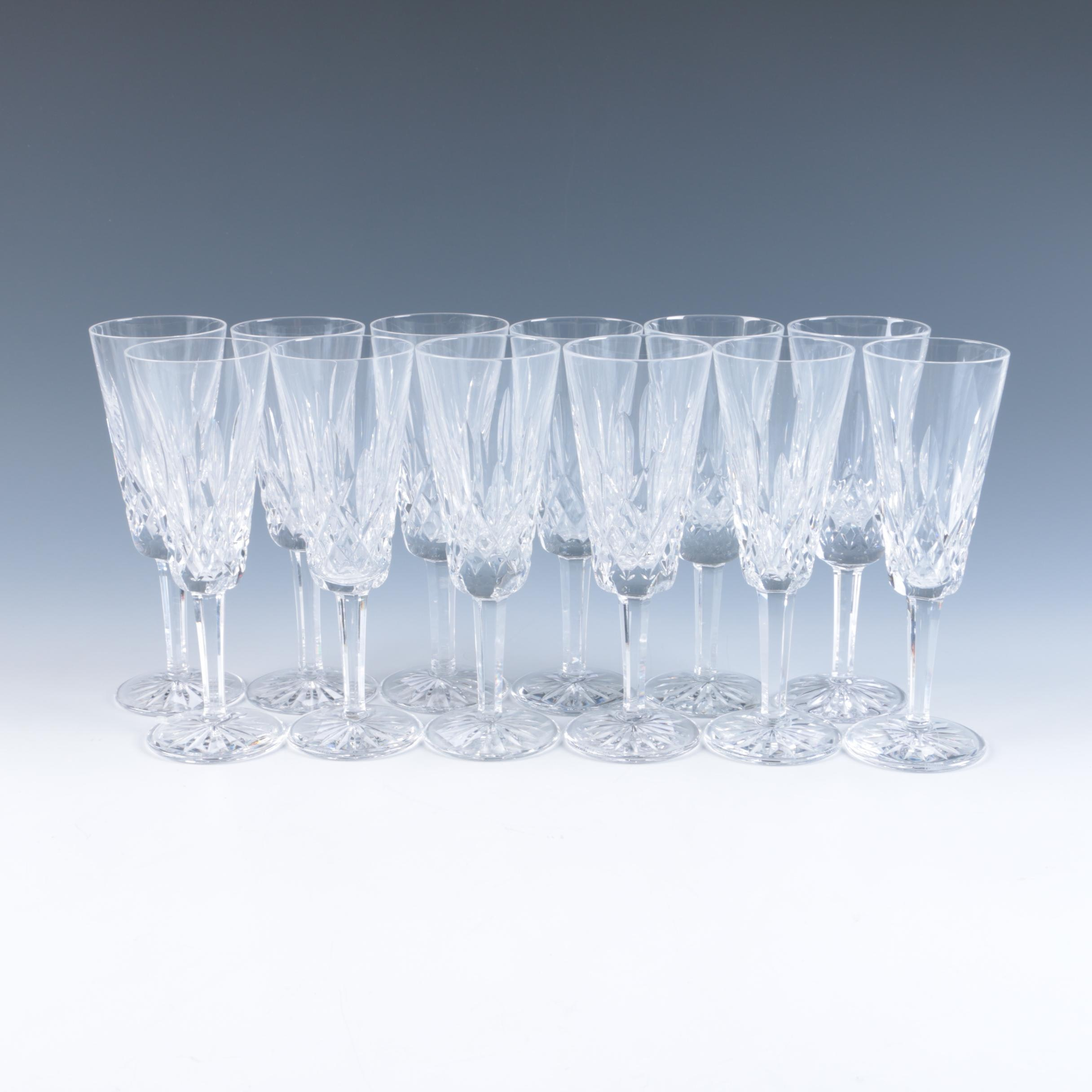 Waterford Lismore Champagne Flutes