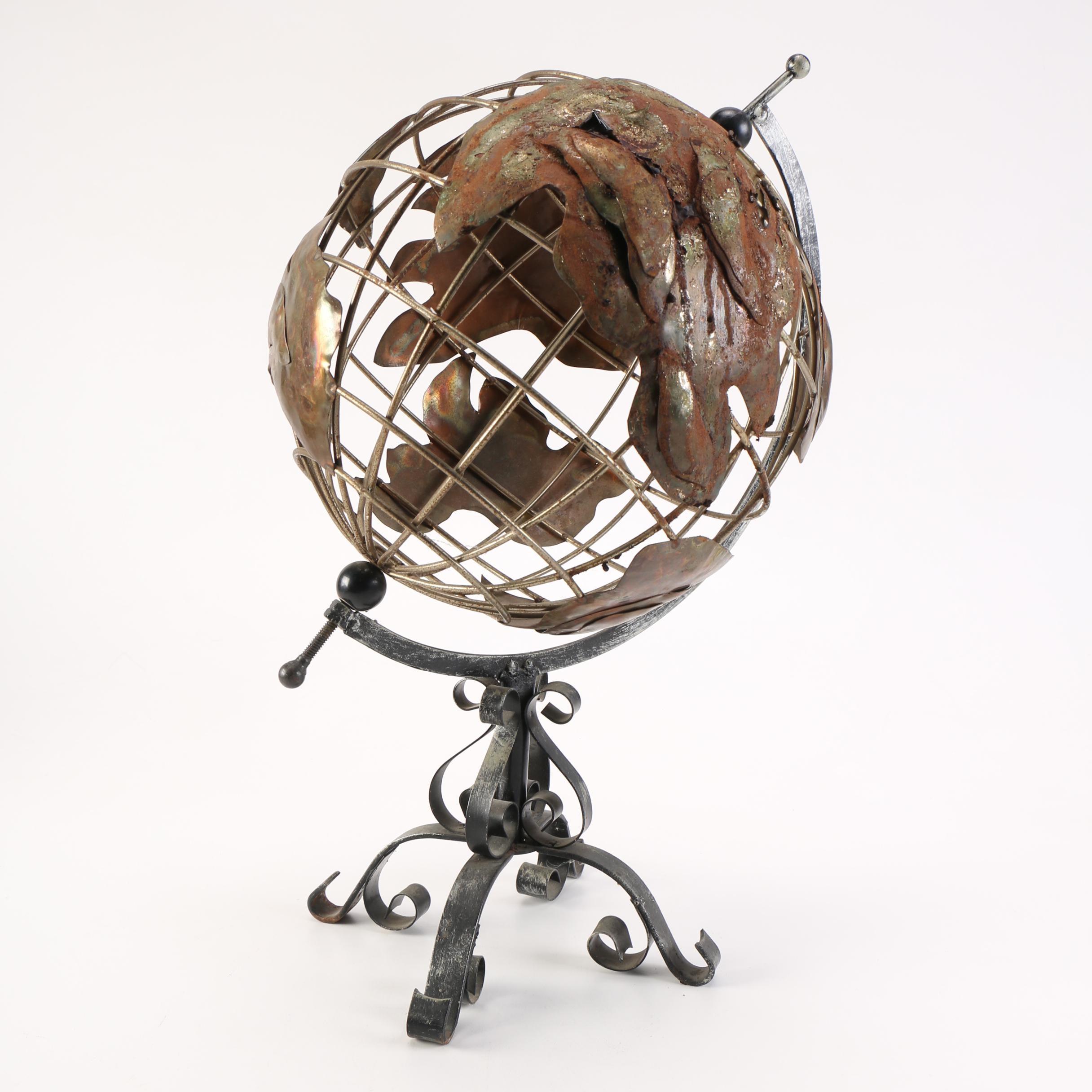 Metal Desk Globe