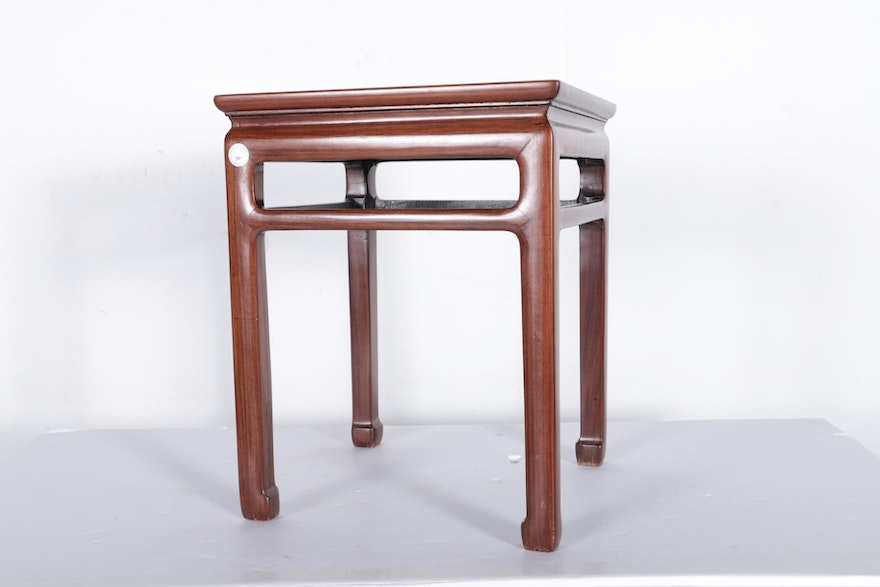 Antique chinese huanghuali square table ebth for Asian furniture tampa