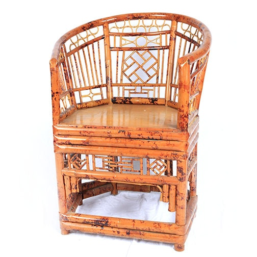 Chinese Chippendale Influenced Bamboo Armchair