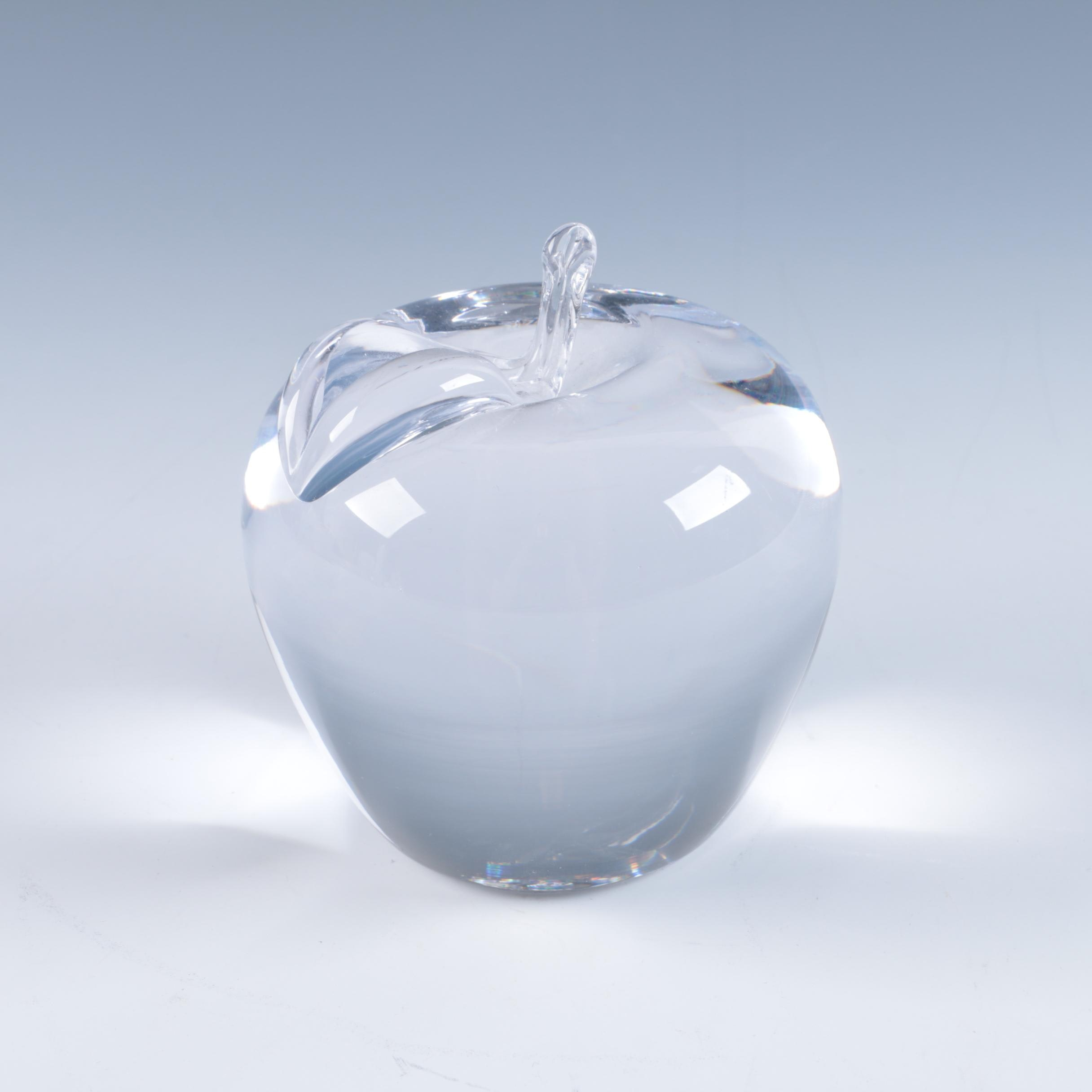 Simon Pearce Art Glass Apple