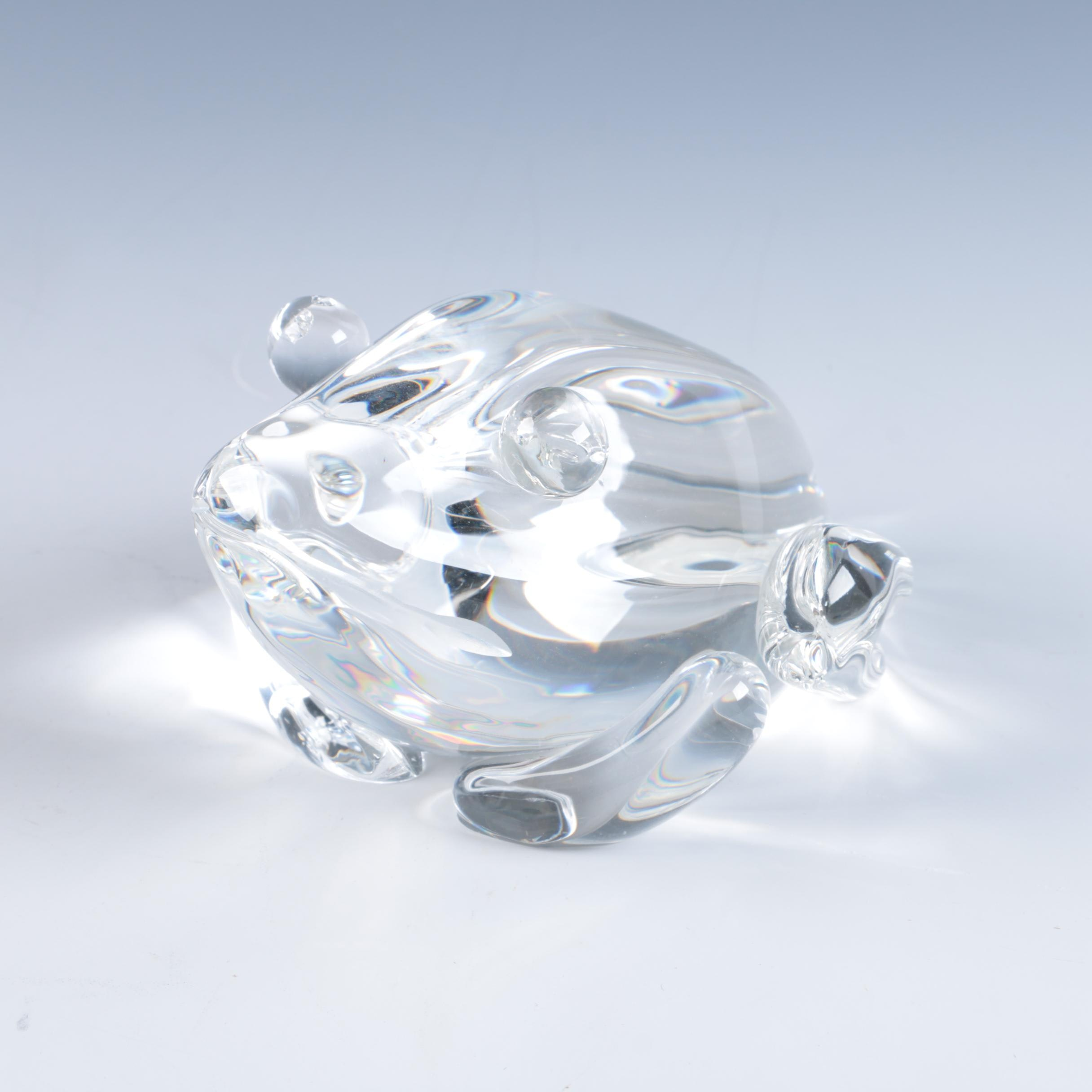 Steuben Crystal Frog Sculpture