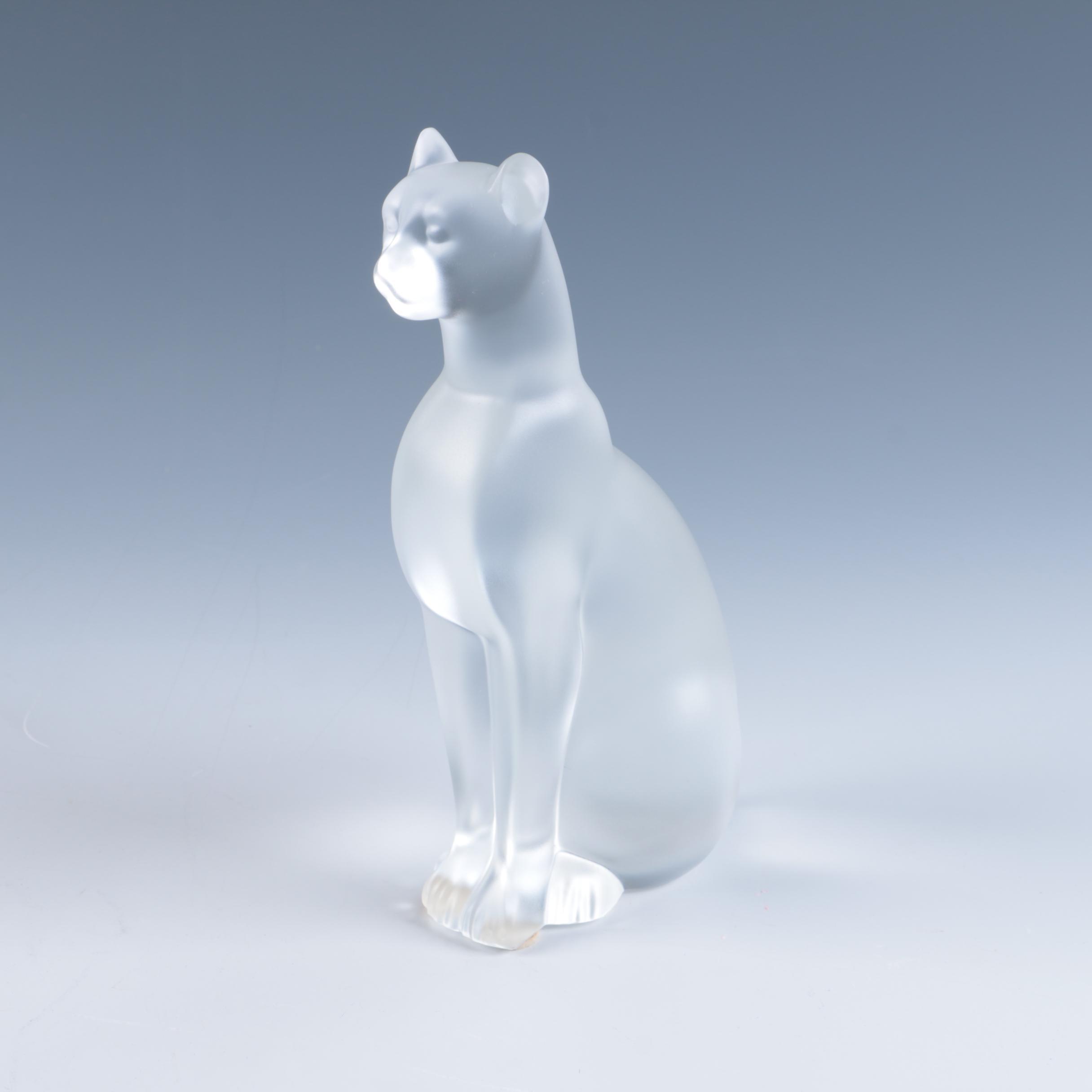 "Baccarat Crystal ""Egyptian Cat"" Figurine"