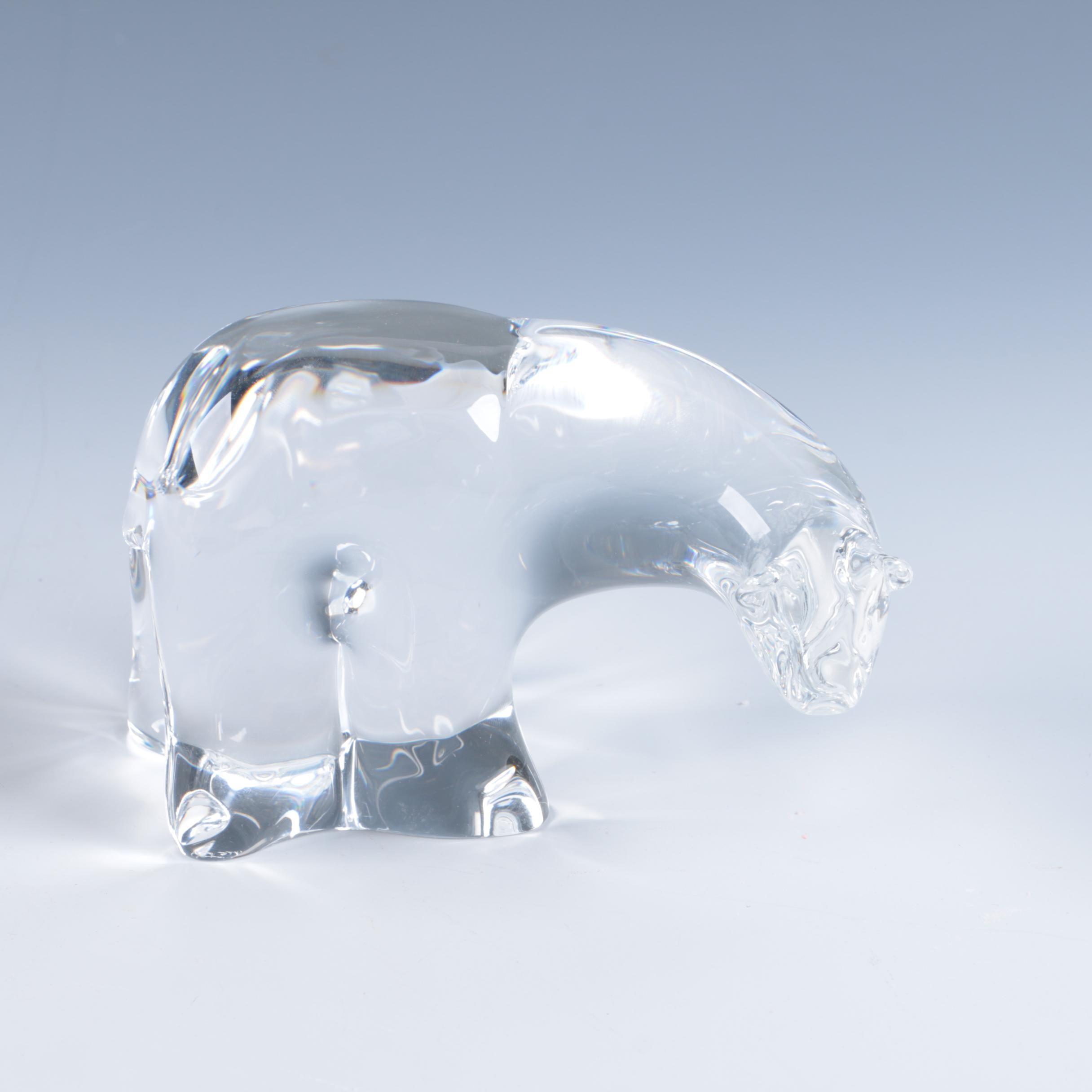 Vintage Steuben Crystal Polar Bear Sculpture