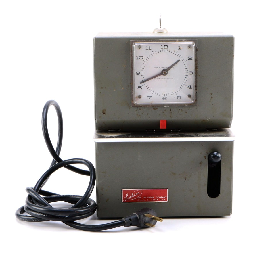 Vintage Lathem Time Clock Ebth