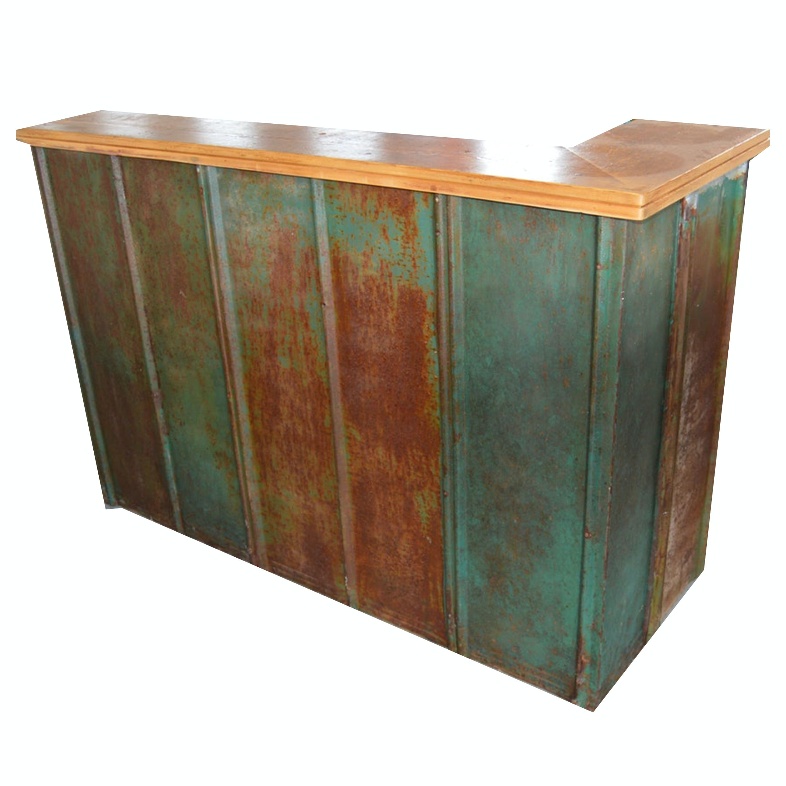 Home Bar with Tin Roof Panel Front