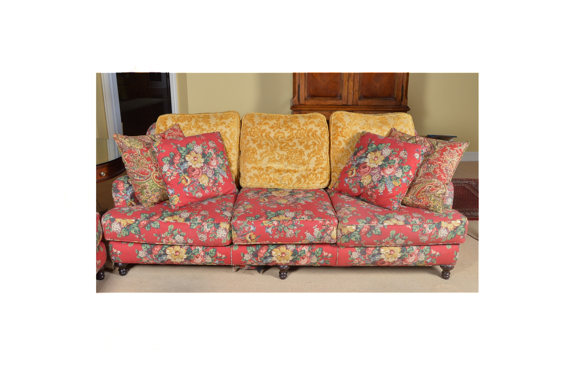 Floral Sofa by Restoration Hardware