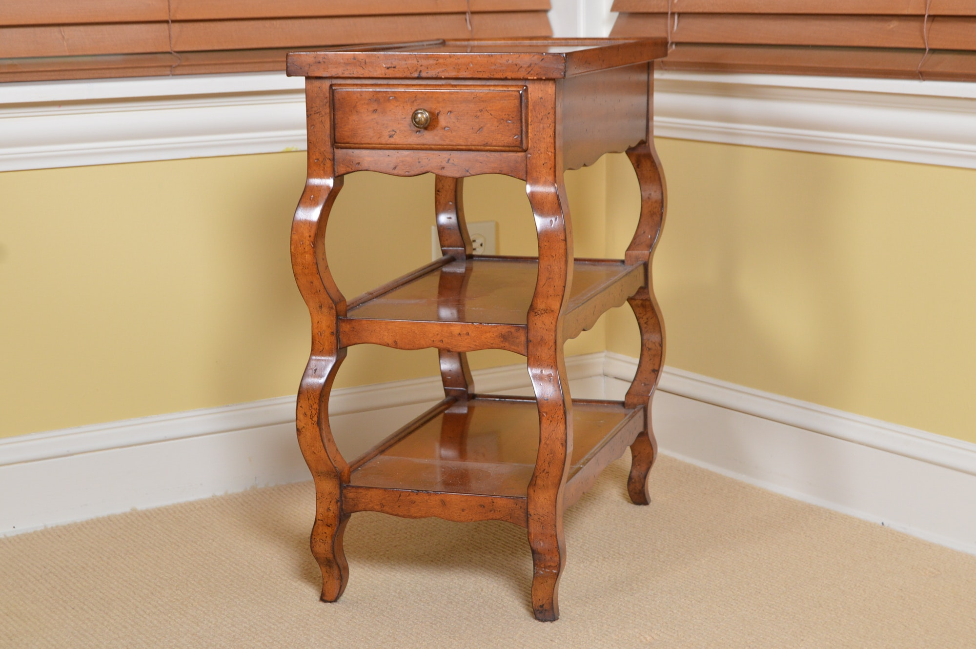 Milling Road for Baker French Country Style Side Table