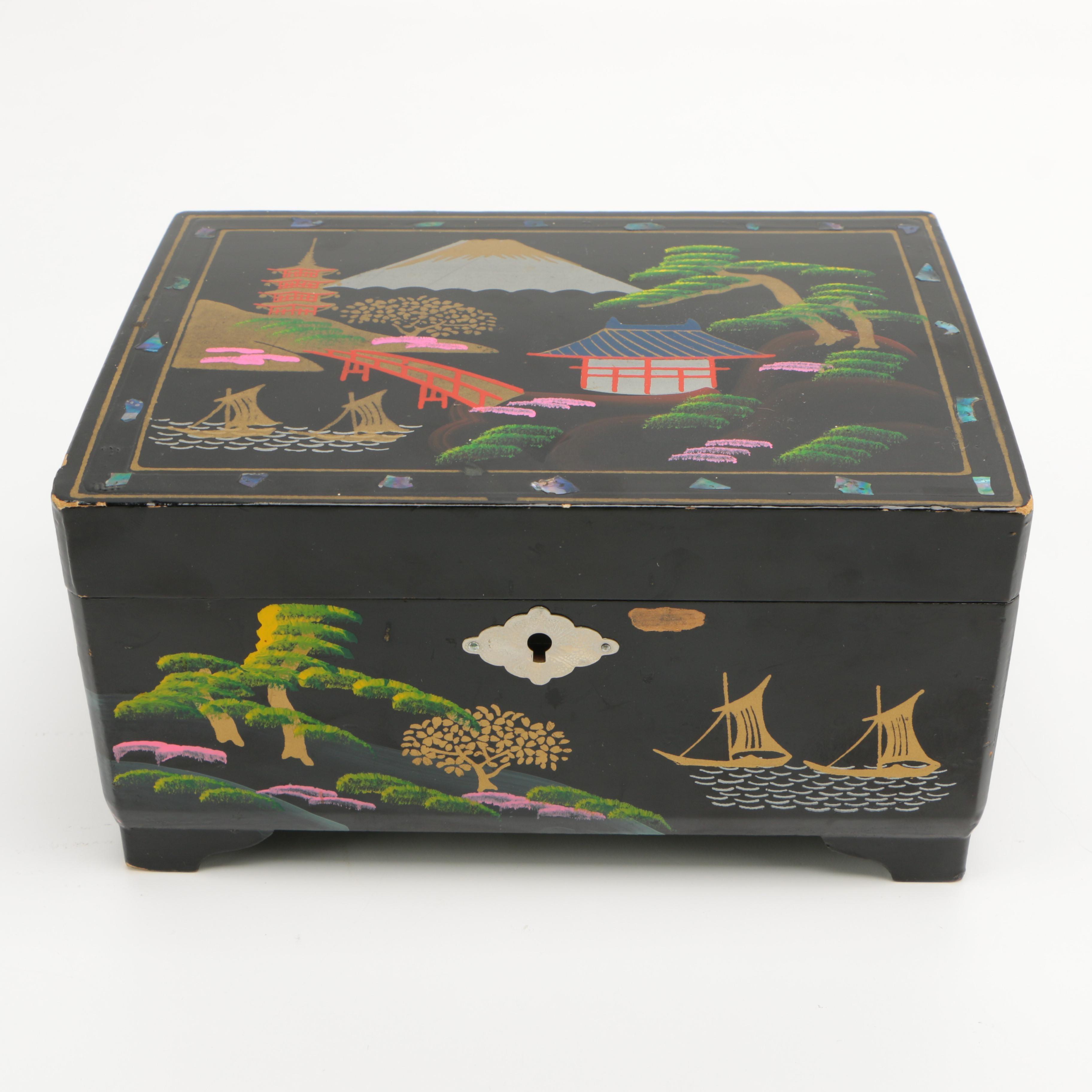 Japanese Musical Jewelry Box
