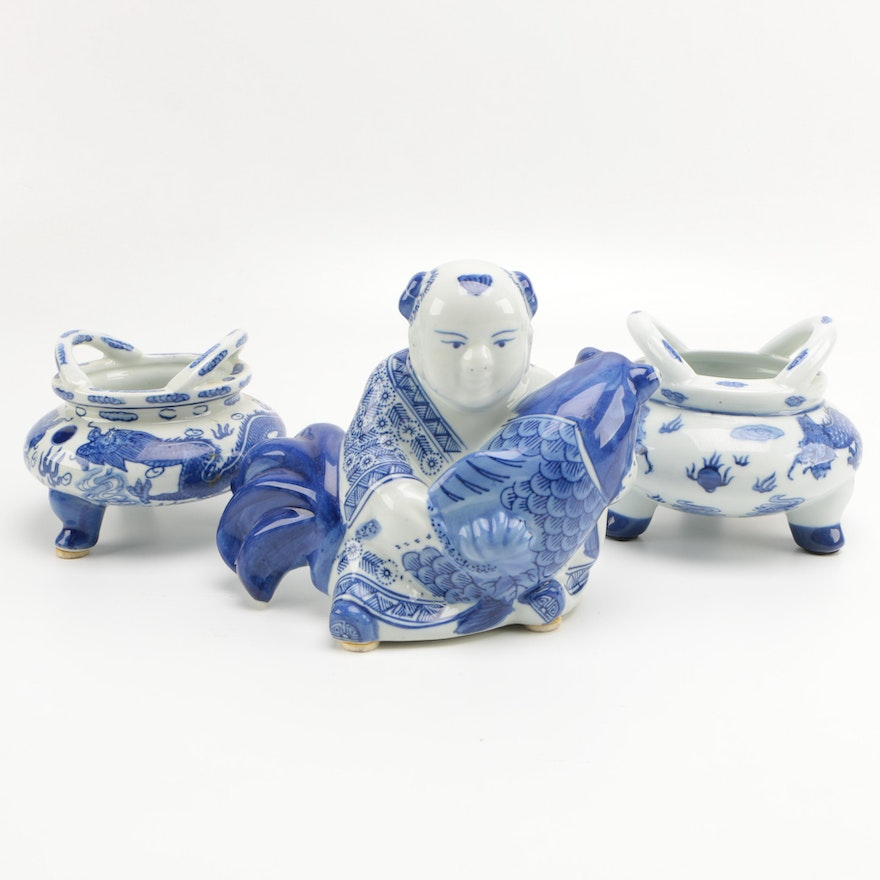 Chinese ceramic home decor ebth for Chinese home decorations
