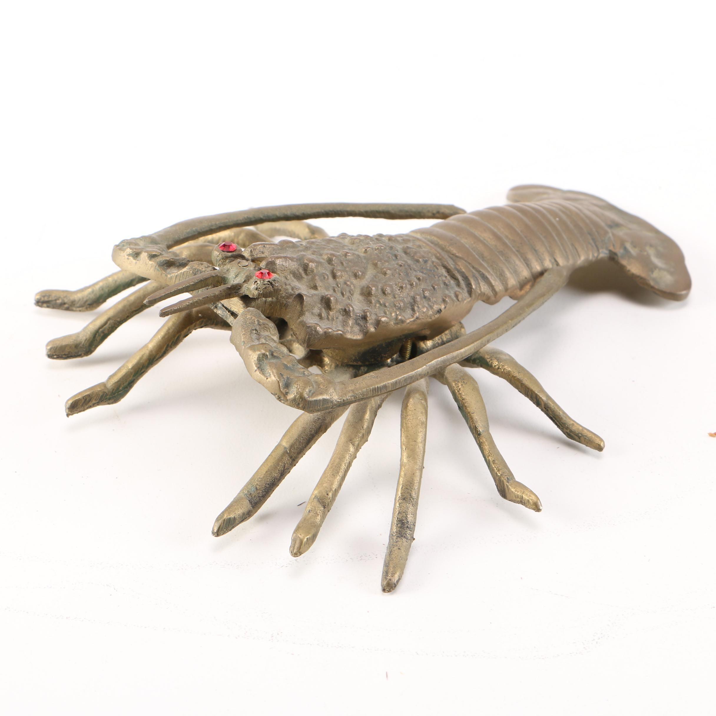 Metal Decorative Hanging Lobster