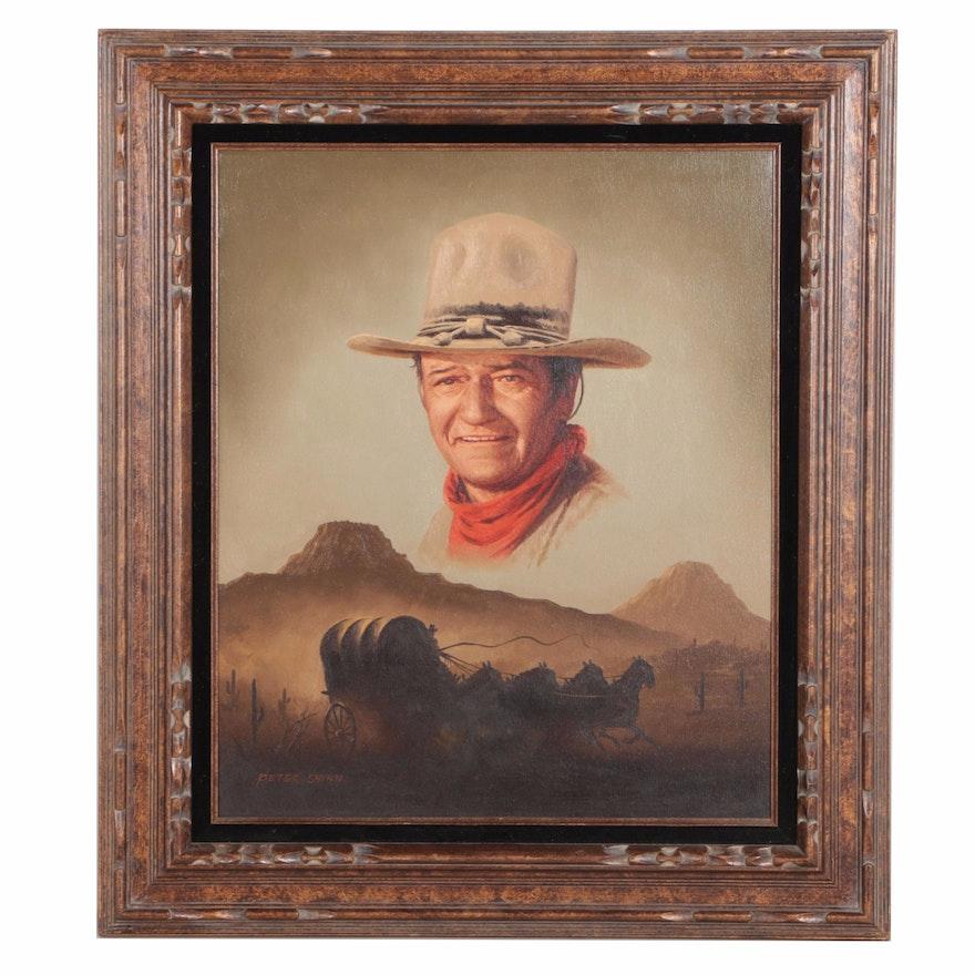 Jw Auto Sales >> Peter Shinn Oil Painting on Canvas of John Wayne : EBTH