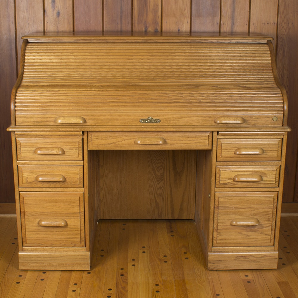 "Riverside ""Oak Creek"" Roll Top Desk"