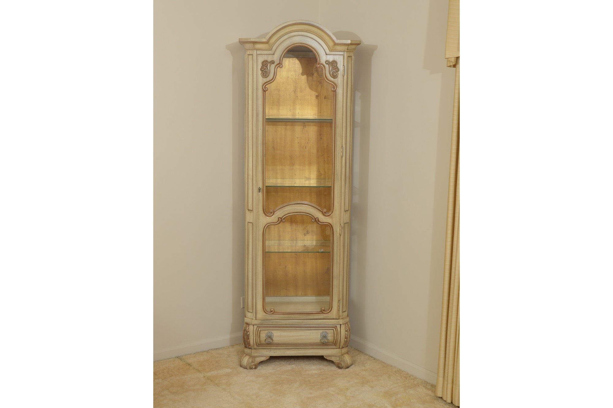 Painted Curio Cabinet by Weiman