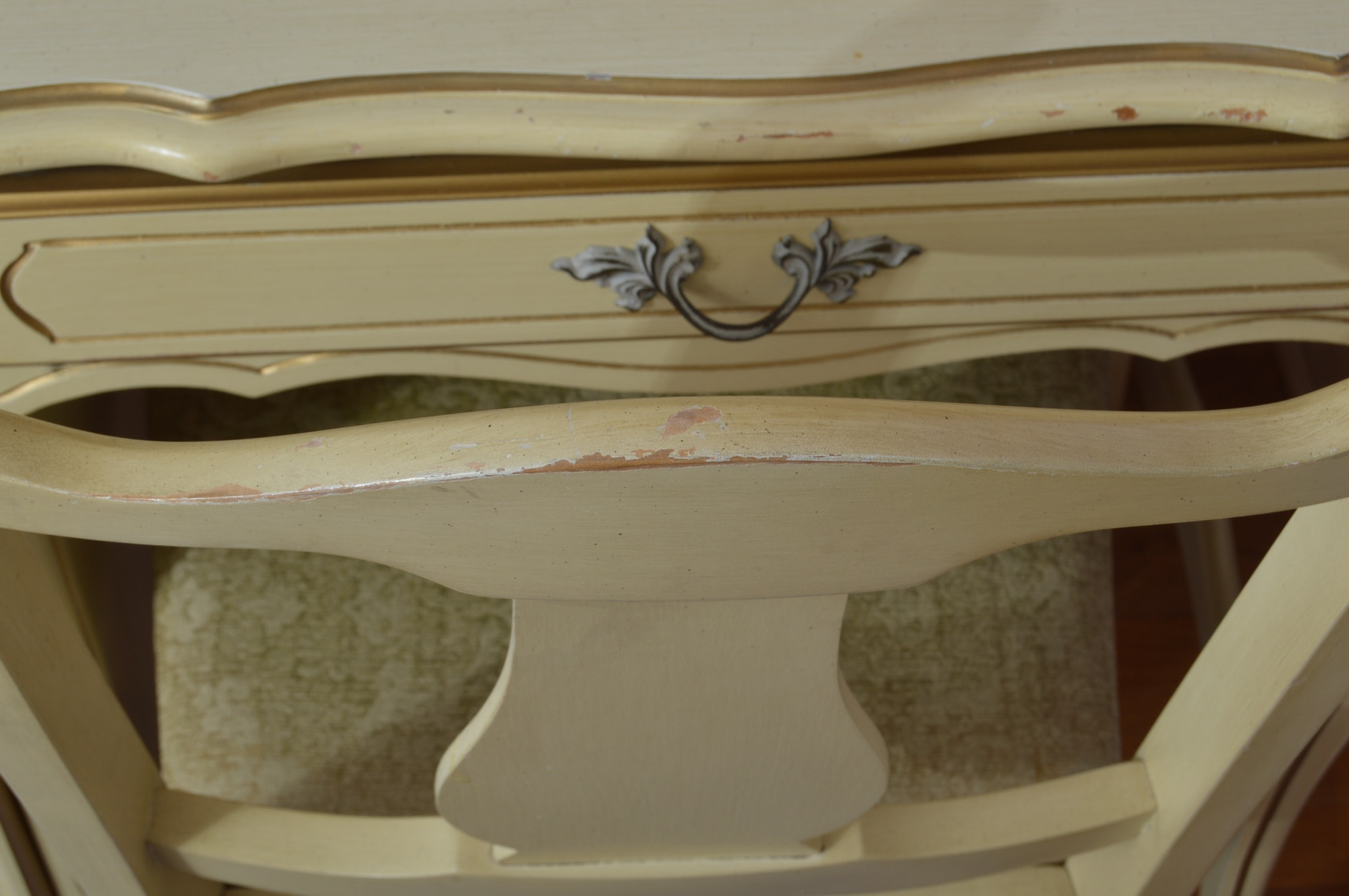 French Provincial Desk With Hutch And Chair Ebth