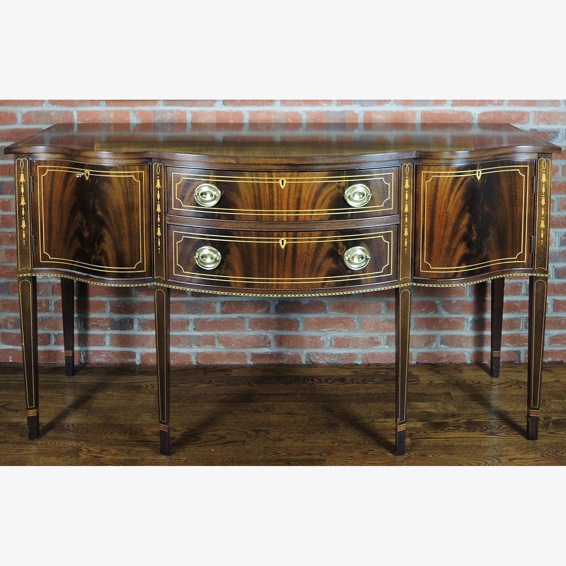 Hepplewhite Style Mahogany Sideboard by Stickley