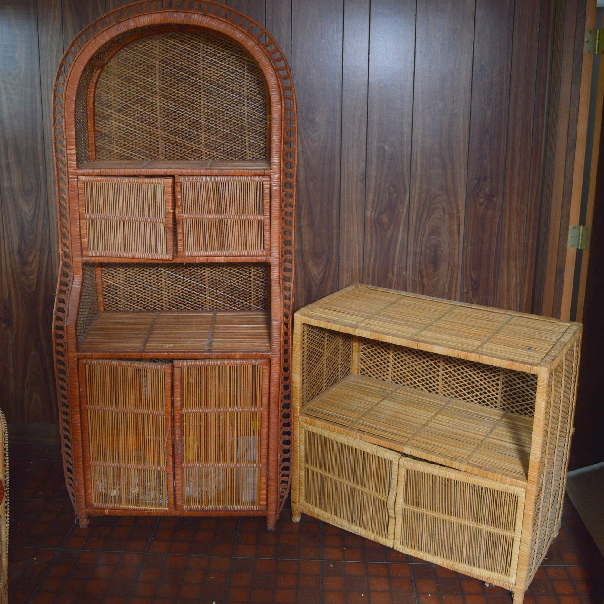 Rattan Hutch and Console Table