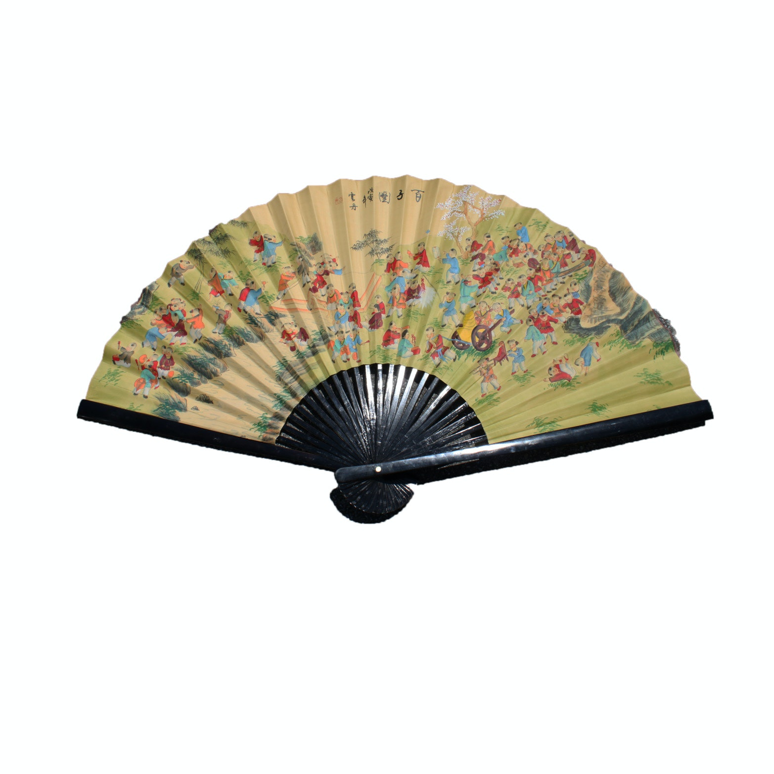 Oversized Hand-Painted Chinese Fan