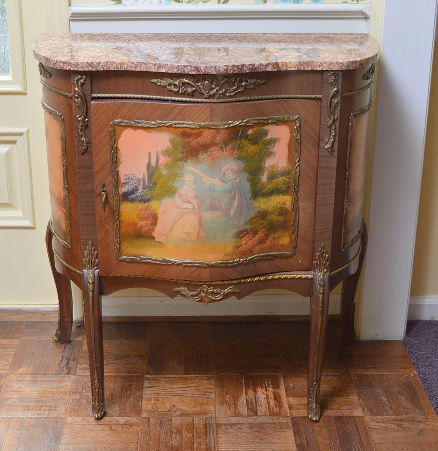 This hand painted hepplewhite style chairs is no longer available - Hand Painted Wooden Side Cabinet
