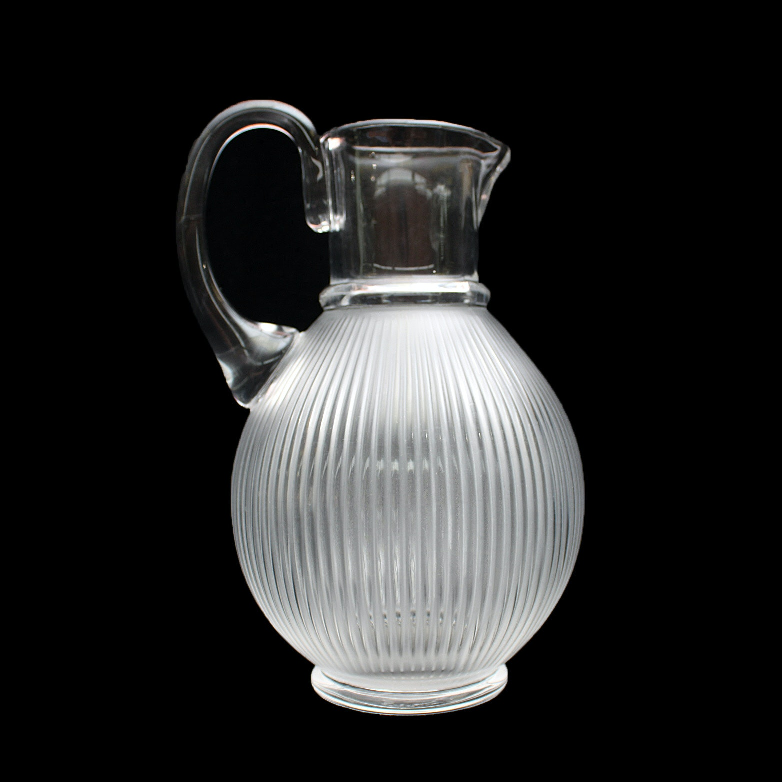 "Lalique France Crystal ""Langeais"" Pitcher"