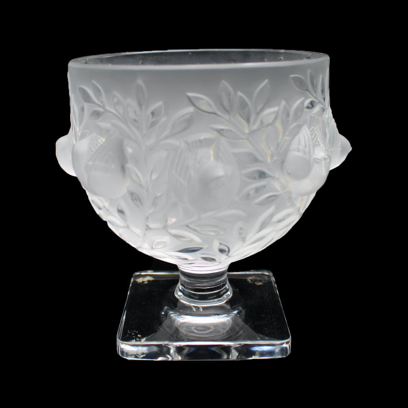 """Lalique France Crystal """"Elizabeth"""" Vase"""
