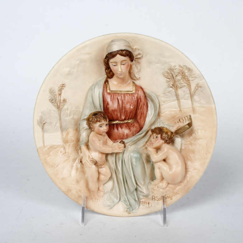 """After Alberto Santangela """"Il Dono della Saggezza"""" Decorative Plate"""