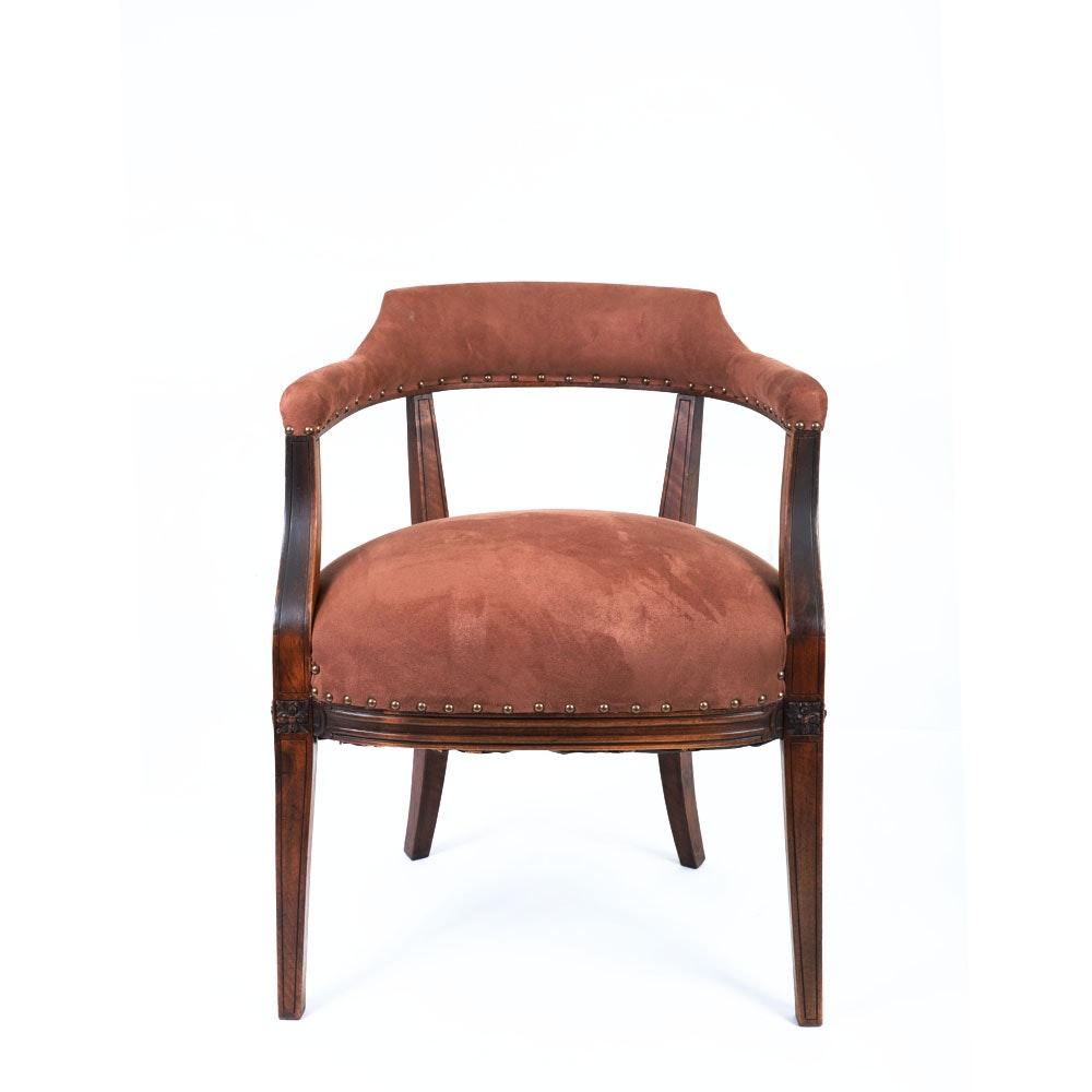 Vintage Barrel Back Armchair