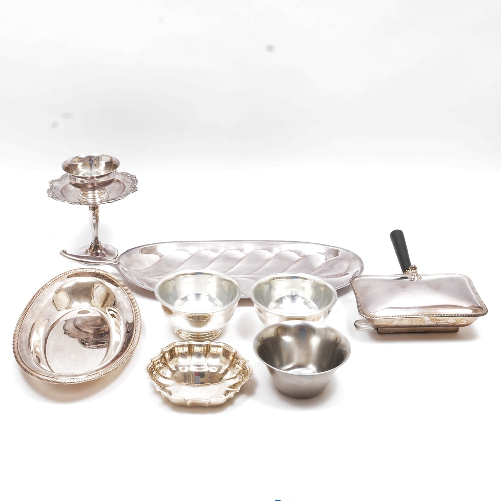 Plated Silver Tableware Including Gorham and F.B. Rogers