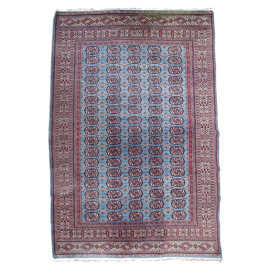 Persian Bokhara Hand Knotted Wool Area Rug: Hand-Knotted Bokhara Wool Area Rug : EBTH