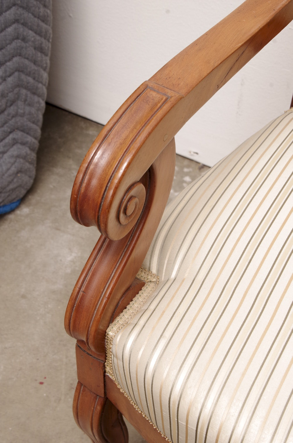 Vintage Classical Style Walnut Armchairs Ebth
