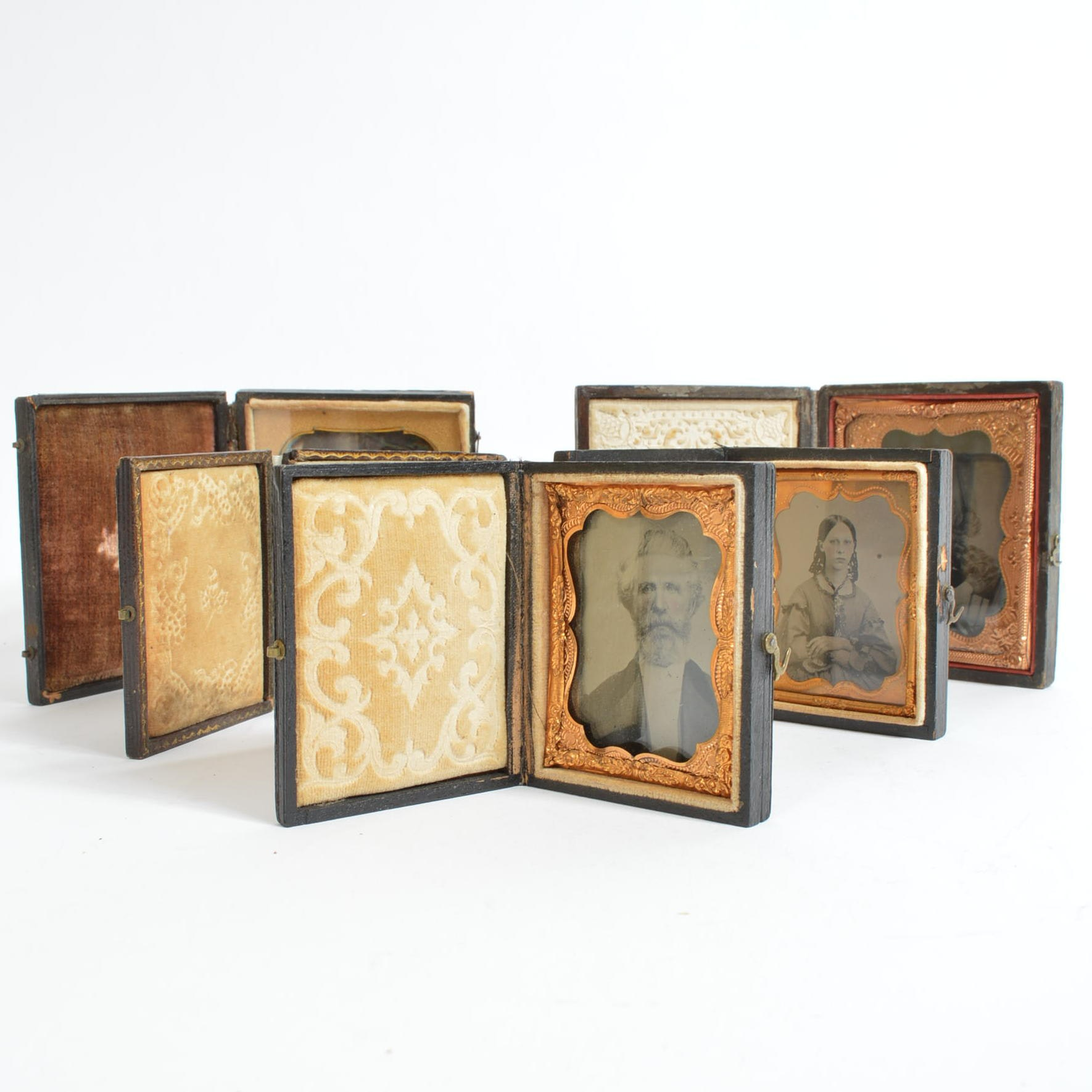 Antique Daguerreotypes and Cases